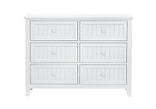 SuiteBebe Anaheim 6 Drawer Dresser in White