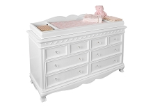 Baby Cache Adelina Double Dresser  in Pure White