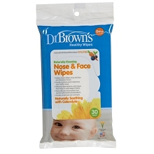 Dr. Brown's  Nose and Face Wipes 30-Pack