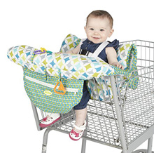 H.I.S. Juveniles Nuby Shopping Cart and Highchair Cover Green-White