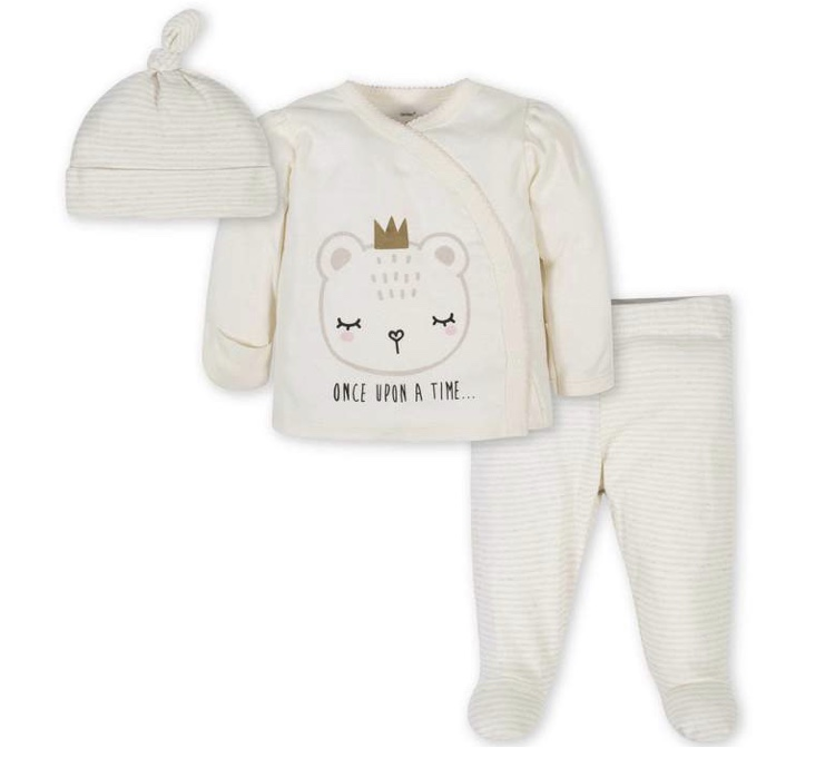 Gerber Bear Take Me Home Set 3 Pieces, Girl Newborn