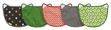 Infantino Wonder Cover 5 Pack Bibs 2-in-1