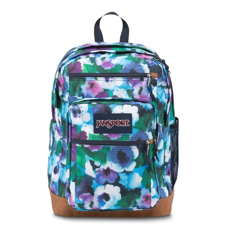 Jansport Cool Student Backpack, Multi Watercolor Floral - Ideal Baby