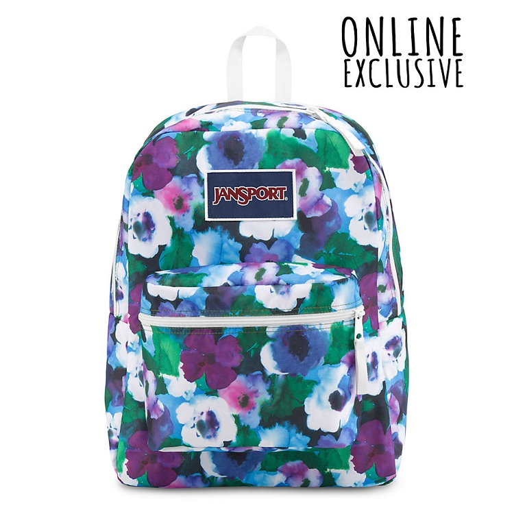 Jansport Overexposed Backpack, Multi Watercolor Floral - Ideal Baby