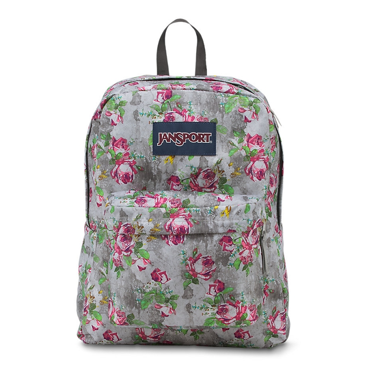 Jansport Superbreak Backpack Multi Concrete Floral