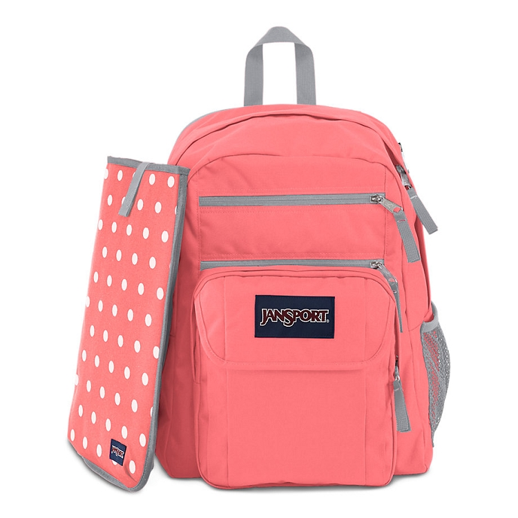 Jansport Digital Student Backpack Coral Sparkle White