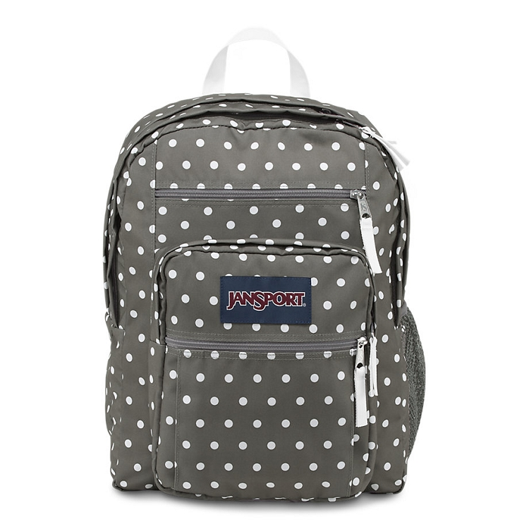 Jansport Big Student Backpack, Shady Grey White Dots ...