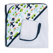 Tomy International by JJ Cole Hooded Towel White Vroom