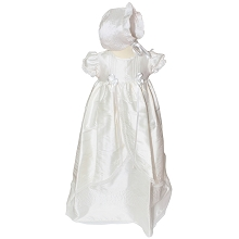 Karela Kids Christening Gown Silk Girl  with Bonnet