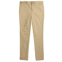 French Toast 50% Off School Uniform Girl's Skinny Stretch Twill Pants, Khaki