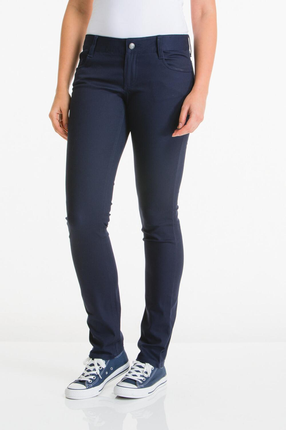 20 French Toast Girls Flat Front Twill Pants in Navy