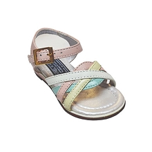 Karela Kids Leather Sandals Girl Multicolored