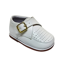 Karela Kids Dress Leather Shoes Boy White