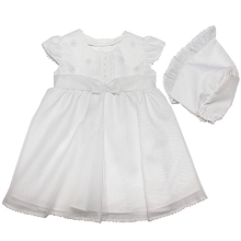 Karela KIds Christening Dress Organza with Bonnet
