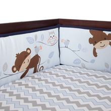 Bedtime Originals Mod Monkey 4-Piece Crib Bumper