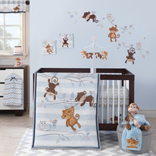 Bedtime Originals Mod Monkey 3 Piece Crib Bedding Set