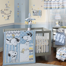 Lambs & Ivy My Little Snoopy 4 Piece Crib Bedding Set