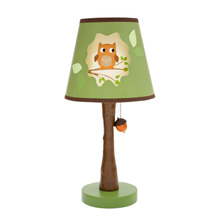 Lambs & Ivy Woodland Tales Lamp with Shade and Bulb