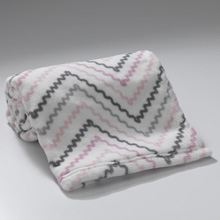 Lambs & Ivy Bunny Mix & Match Collection Chevron Coral Fleece Blanket
