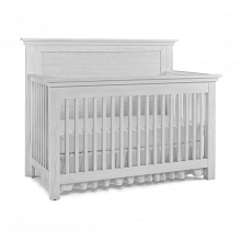 Dolce Babi Lucca Flat Top Convertible Crib Sea Shell White