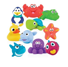 Nuby Fun Time Bath Squiters 10-Pieces