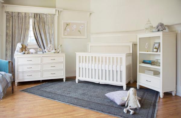 Million Dollar Baby Darlington 4 In 1 Convertible Crib Warm White