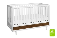 Babyletto Eero 4-in-1 Convertible Crib with Toddler White/Natural/Walnut