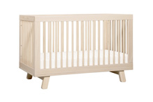 Babyletto Hudson 3-in-1 Convertible Crib with Toddler Rail Washed Natural