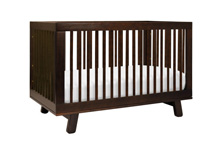 Babyletto Hudson 3-in-1 Convertible Crib with Toddler Rail Washed Espresso