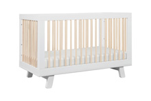 Babyletto Hudson 3-in-1 Convertible Crib with Toddler Rail White-Washed Natural