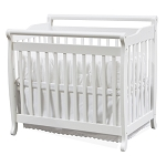 Million Dollar Baby Mini Portable Crib Emily in White