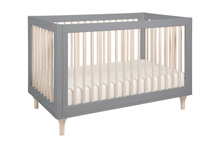 Babyletto Lolly 3-in-1 Convertible Crib with Toddler Rail Grey-Washed Natural