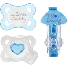 MAM Love and Affection 3 Pack Pacifier & Clip 0-6 Months