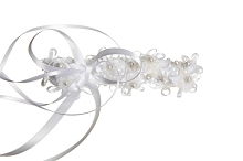 Martha Loyman Braided Crown with Pearl White
