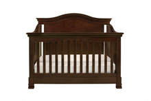 Million Dollar Baby Classic Louis 4 in 1 Convertible Crib with Toddler Rail, Espresso