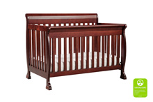 DaVinci Kalani 4 in 1 Convertible Crib with Toddler Bed Conversion Kit in Cherry