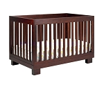 Babyletto Modo 3 in 1 Convertible Crib with Toddler Rail, Espresso