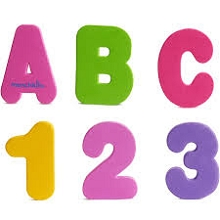 Munchkin 36-Pieces Bath Letters & Numbers