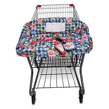 Boppy Shopping Cart Cover, Navy Blossoms