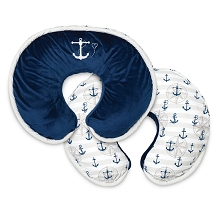 Boppy® Luxe Nursing Pillow Navy Nautical