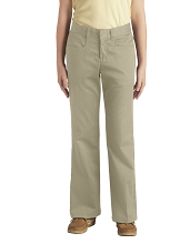 Dickie 50% Off School Uniform Fit Boot Pant Girl, Khaki