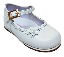 Karela Kids Dress Leather Shoe Girl White