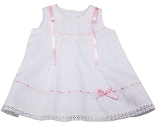 Karela Kids Pique Dress with Ribbons and Lace Size 18 Months