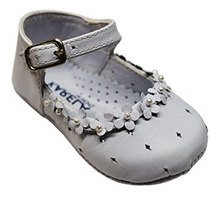 Karela Kids Leather Shoes Girl White