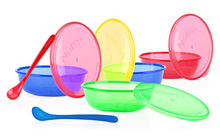 Luv n Care Nuby Bowls with Snap in Spoon 4-Pack