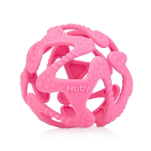 Nuby Tuggy Teething Ball Pink