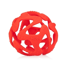 Nuby Tuggy Teething Ball Red