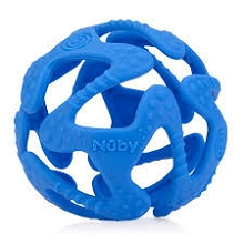 Nuby Tuggy Teething Ball Blue