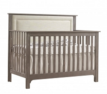 Nest Juvenile Emerson 5 in 1 Convertible Crib with Upholstered Panel Talc