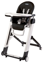 Peg Perego Siesta High Chair, Licorice - Black Leather